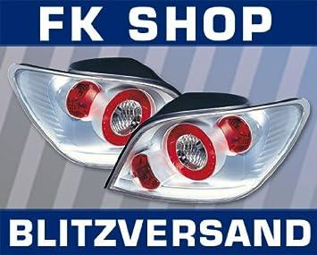 LED luces traseras Peugeot 307 construido 01 - 04, color plateado: Amazon.es: Coche y moto