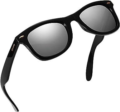 Diseñador Classic Plano Top Polarizado Gafas Sol Retro Negro Hombre Mujer UV400