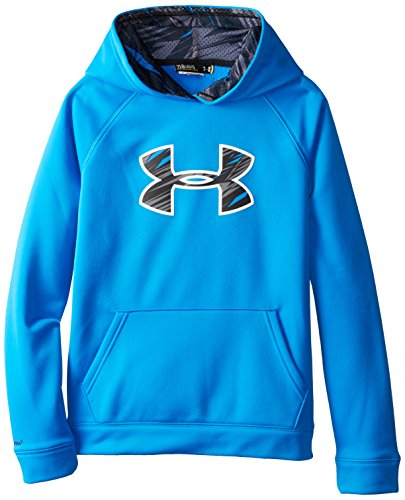 Under Armour Youth Boys' Fleece Storm Big Logo Hoody, Blue Jet /Black, Youth X-Small