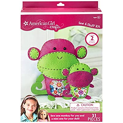 American Girl Crafts Monkeys Sew & Stuff Activity Set - Makes 2 Stuffed Monkeys: Toys & Games