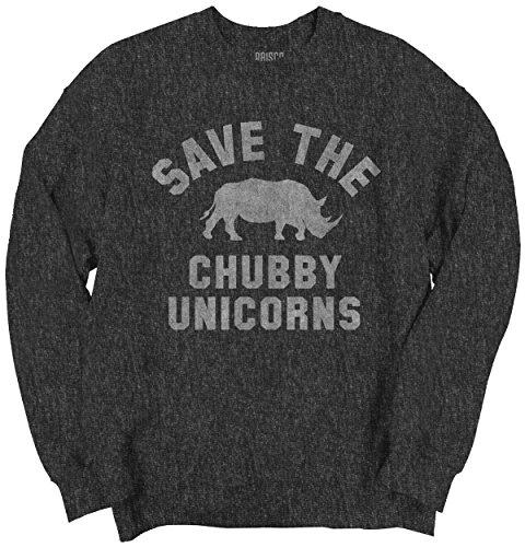Save Chubby Unicorns Funny Shirt Rhino Hipster Gift Idea Cool Sweatshirt