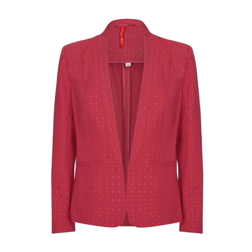 Anastasia  Womens Burgandy Short Spring Suit Jacket Size 10