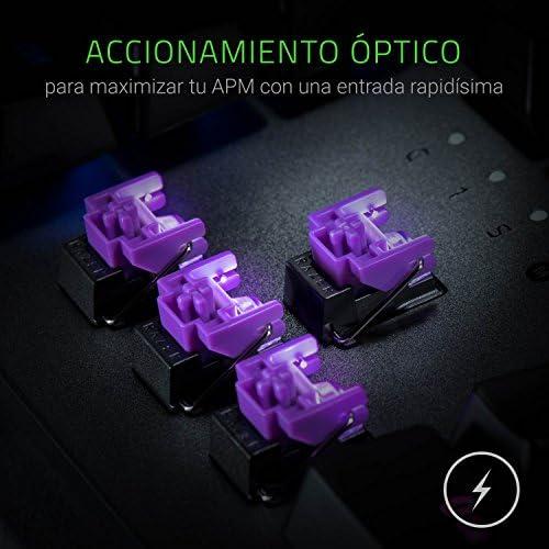Razer Huntsman Elite - Gaming Clavier avec fil, USB , Opto-mechanical key switch - Noir - ES Layout