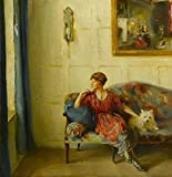 Mrs Faith Moore At Chequers by Philip Alexius De Laszlo 28'' x 28'' Oil on Canvas Art Reproduction Painting