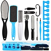 Professional Pedicure Kit Foot Files Set Tools Double Sided Files Exfoliating Prevent Dead Skin Foot Skin Care Tool Set…
