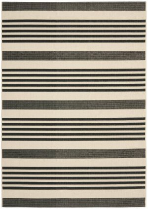 Contemporary Rug - Courtyard 6000 Polypropylene -Black/Bone Black/Bone/Contemporary/5