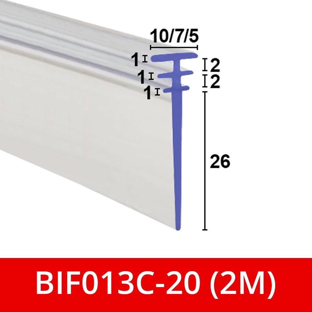 Bif013/C Multi-fitting pour 5 Doux clair flexibles en caoutchouc Triple T de douche Joint 7/ou 10/mm canaux pour BI pliante portes