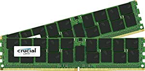 Crucial 32GB Kit (16GBx2) DDR4-2133 MT/S (PC4-2133) CL15 dual ranked x4based ECC Registered Server Memory CT2K16G4RFD4213