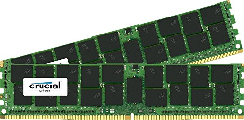 Crucial 32GB Kit (16GBx2) DDR4-2133 MT/S (PC4-2133) CL15 dual ranked x4based ECC Registered Server Memory - System Ecc Memory