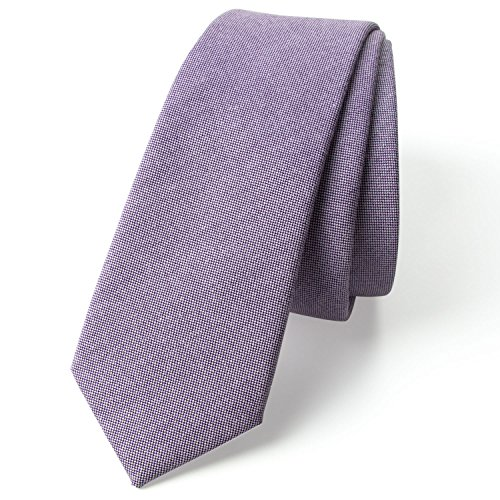 Spring Notion Men's Solid Color Chambray Cotton Skinny Tie, - Shipping Free 2day