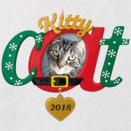 Hallmark Keepsake Christmas Ornament 2018 Year Dated, Kitty Cat Picture Frame, Photo Frame ()