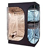 """BloomGrow 48""""x36""""x72"""" 2-in-1 Hydroponic Indoor Grow Tent Room Propagation High Reflective 600D Diamond"""