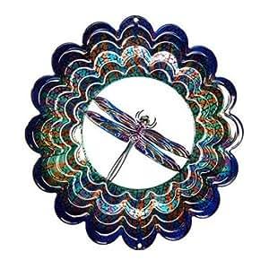Siguiente innovaciones ekmdragonflybl azul libélula Kaleidescope Eycatcher, medio