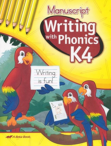 Writing With Phonics K4 (Manuscript Writing) A Beka for sale  Delivered anywhere in USA
