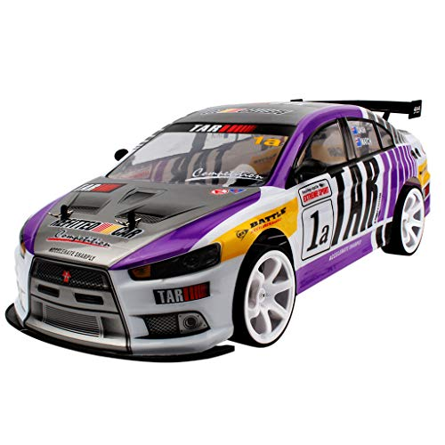 Gbell  Large Four-Wheel Drive Electric Remote Control High-Speed 70Km/H Rc Car 4Wd Double Battery Toy with Light Vehicle Drift Racing Car Model 1:10 Racing Truck for Todder Boys Age 3