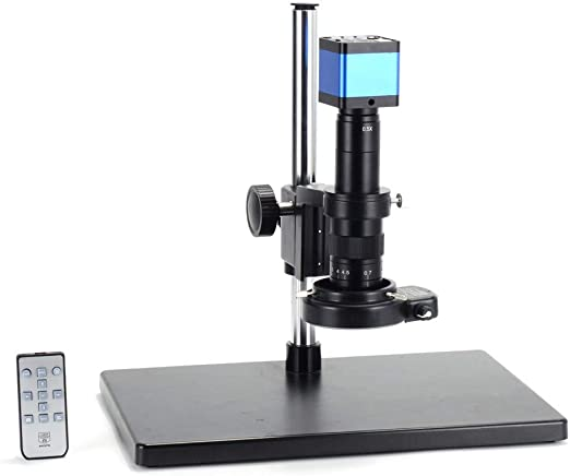 Color : with 100x HONYGE L-Ying Microscopes, Full HD 1080P 60FPS 2K 3800W 38MP HDMI USB Industrial Electronic Digital Video Microscope Camera for Phone CPU PCB Repair