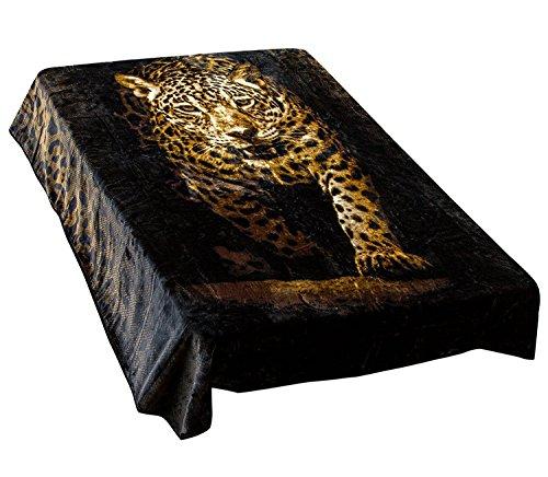 Archangel Ultra Silky Soft Heavy Duty Quality Korean Mink Reversible Cloud Blanket Printed Leopard 83