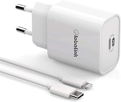 GlobaLink Cargador Rapido iPhone MFi Certificado, 18W Cargador ...