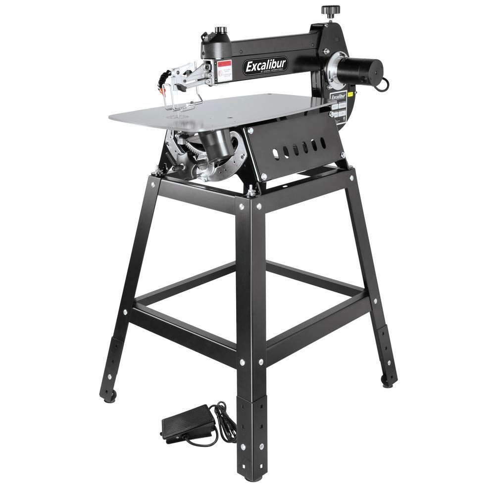 Excalibur EX-21K 21'' Tilting Head Scroll Saw Kit-With Foot Switch & Steel Stand by General International