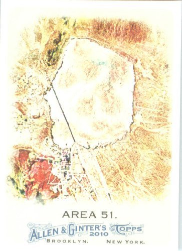Usaf Base (2010 Topps Allen and Ginter Baseball Card # 130 Area 51 - Top Secret USAF Military Base - MLB Trading Card)