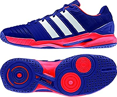 Adidas Men's Adipower Stabil 11 Indoor Shoe-Amazon Purple/White/Solar Red by Adidas