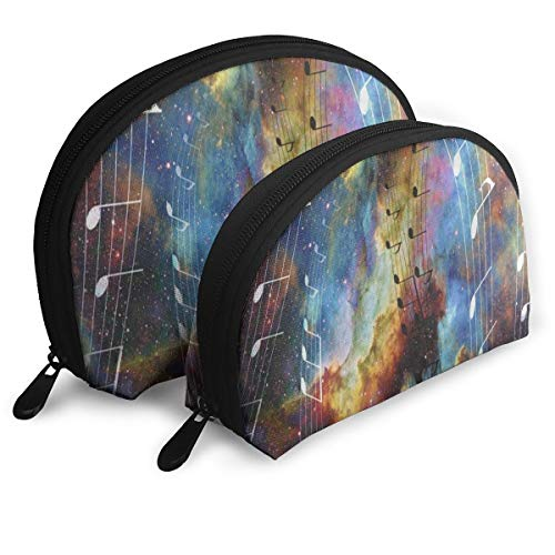 y Organizer Travel Makeup Clutch Bag Music Note Galaxy Nebula Portable Bags Clutch Pouch Storage Bags ()