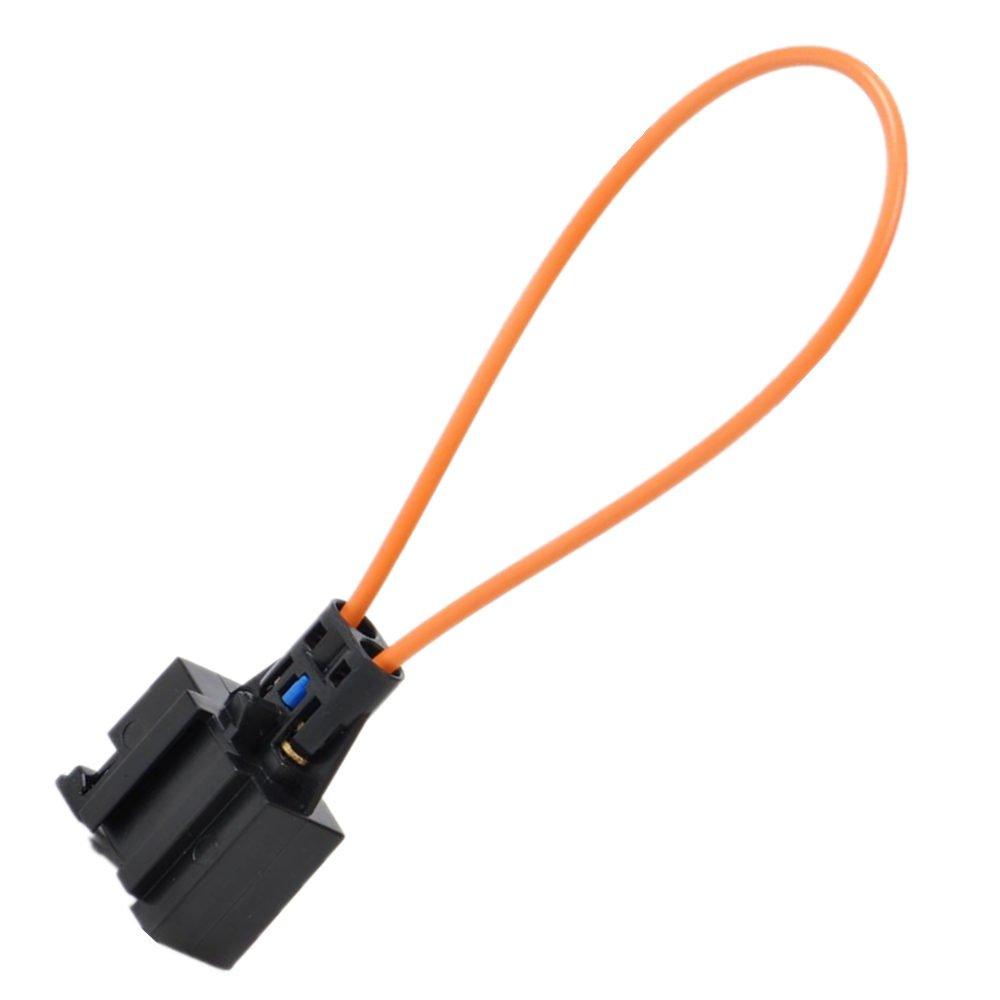 BaiFM MOST Fiber Optical Optic Loop Bypass Female Adapter for BMW Mercedes Benz VW Audi Porsche