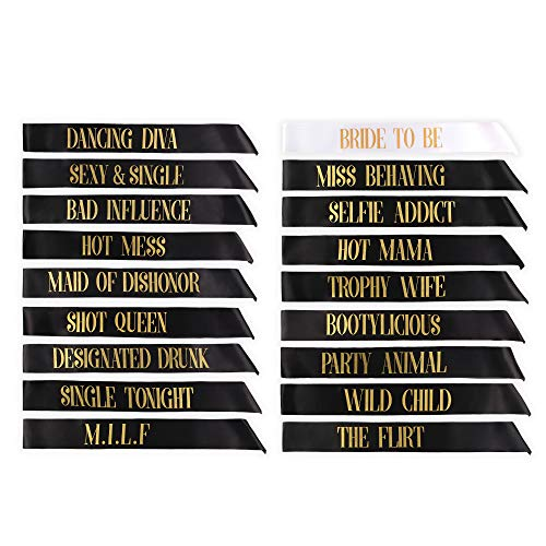 18 Bachelorette Sashes- 17 Bride Tribe Sashes and