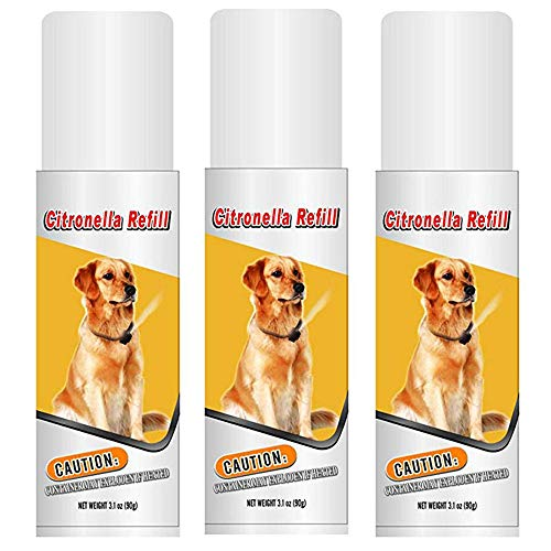 Citronella Refill Canisters to Control Dog Barking, No Bark, Anti Bark Collar - 3 oz - Three Pack