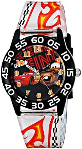 Disney Kids' W001680 Cars Lightning McQueen & Tow Mater Plastic Watch, Printed Band