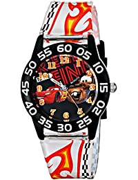 Kids' W001680 Cars Lightning McQueen & Tow Mater Plastic Watch, Printed Band