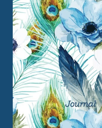 Journal: Feathers and Flowers 8x10 - GRAPH JOURNAL - Journal with graph paper pages, square grid pattern (8x10 Birds and Butterflies Graph Journal Series) by CreateSpace Independent Publishing Platform