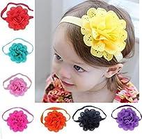 Feitong (TM) 8pcs Lovely Baby Girls flor Headbands fotografía Props Diadema Accesorios, Style A