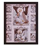 HandicraftStore Gurunank dev ji and Guru gobind Singh ji with Eight Other Sikh Religious guru's, A Sikh Holy Religious Painting Poster with Frame, Must for Sikh Family Home/Office