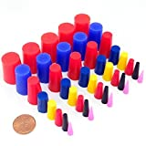 """Automotive : 40 Pc 1/16"""" to 3/4"""" High Temp Silicone Rubber Tapered Plug Kit - Powder Coating Custom Painting Supplies"""
