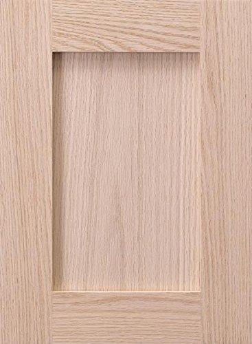 Cabinet Doors 'N' More 10'' x 28'' Unfinished Red Oak Shaker Recess Panel Kitchen Cabinet Door by Cabinet Doors 'N' More
