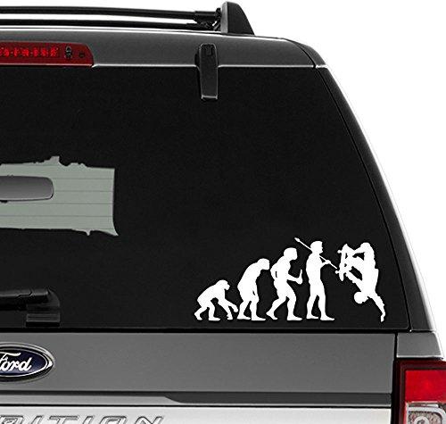 Skateboarding Skateboard Evolution Vinyl Decal Sticker for Wall Decor, Windows, Laptop, Car, Truck, Motorcycle, Vehicles (Size-10 inch/25 cm Wide) - (Matte Black Color)