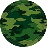Amscan 22.8 cm International Camouflage plaques