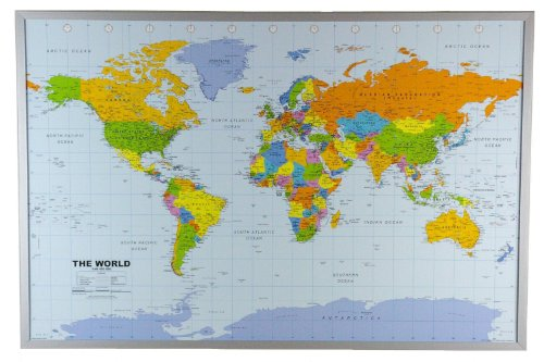 Interkart the best amazon price in savemoney political world map on cork pinboard 24 x 36 gumiabroncs Images