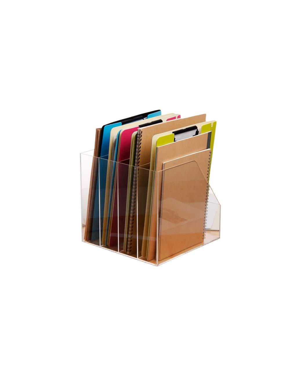 Home Office Furniture Desktop File Holder Magazine Rack File Filing Storage Rack Transparent Color by File Cabinets