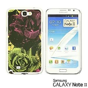 OnlineBestDigital? - Flower Pattern Hardback Case for Samsung Galaxy Note 2 - Rose Fabric