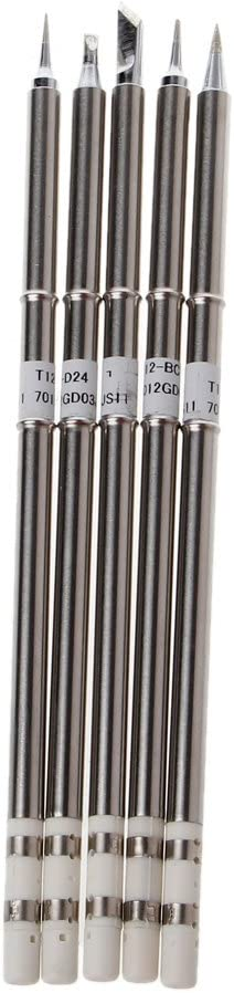 2 Pcs T12 Series Solder Iron Tips For Soldering Station Hakko FX951 BAKON