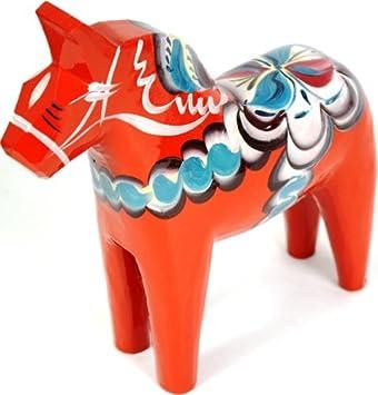 Traditional Wooden Swedish Dala Horse – Red 8 20cm