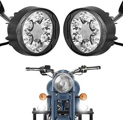 Pr Fog Light Mirror Mount 6 Led 24w White Light Auxillary Light Bike