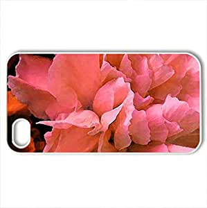 The beautiful carnation - Case Cover for iPhone 4 and 4s (Flowers Series, Watercolor style, White)