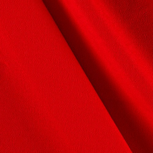 red crepe fabric - 8