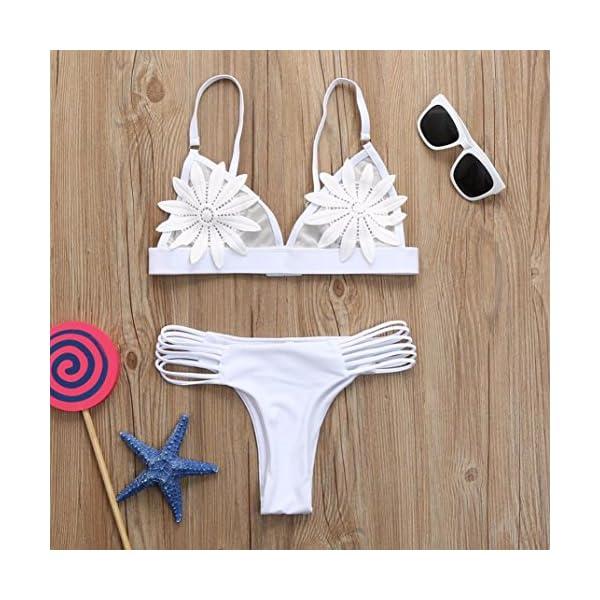Donne Costume da Bagno Bikini Push up Set Sexy Mare Flessione Imbottiti sulle Braccia Reggiseno Floreale Sportivo Arena… 5 spesavip