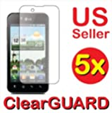 5x LG Marquee LS855 Premium Clear LCD Screen Protector Cover Guard Shield Protective Film Kit (5 Pieces)