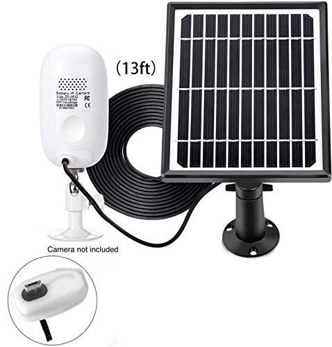 ZUMIMALL Solar Panel Power Supply for ZUMIMALL Rechargeable Battery Wireless Security Camera A3/A3P ( No Camera)
