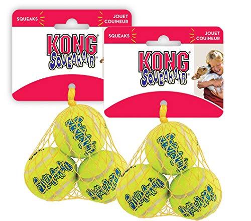 KONG Air Squeaker Tennis Balls Two Pack (Kong Air Balls Dog)